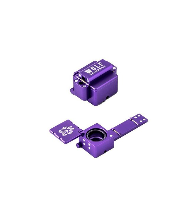 Wolf Grinders - Scorpion Folding Pipe - Purple
