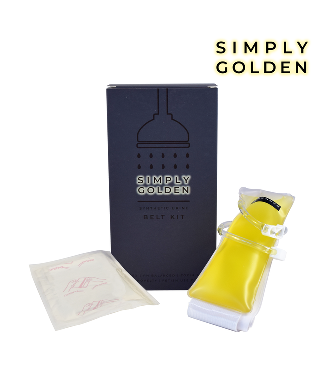 Simply Golden Synthetic 3.5oz Urine Belt Kit