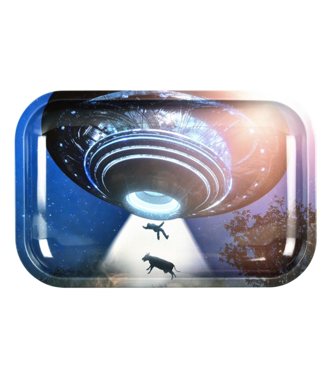 "Pulsar Pulsar 11"" x 7"" Metal Rolling Tray Medium Take Me To Your Leader"