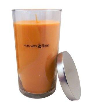 Smoke Odor Wax Wick & Flame 18.5oz Candle Jar w/ Lid