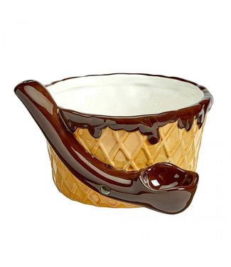 Ceramic Ice Cream Mug Pipe