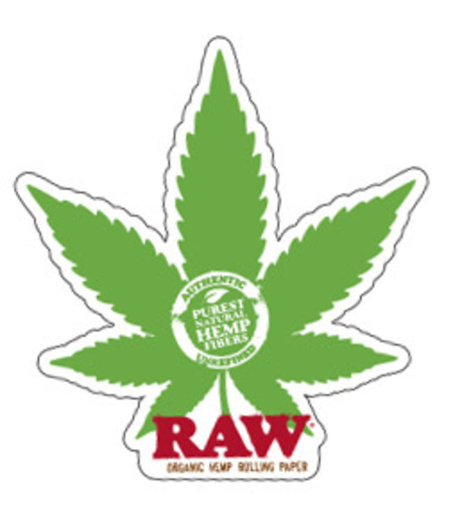 RAW RAW Sticker Hemp Leaf