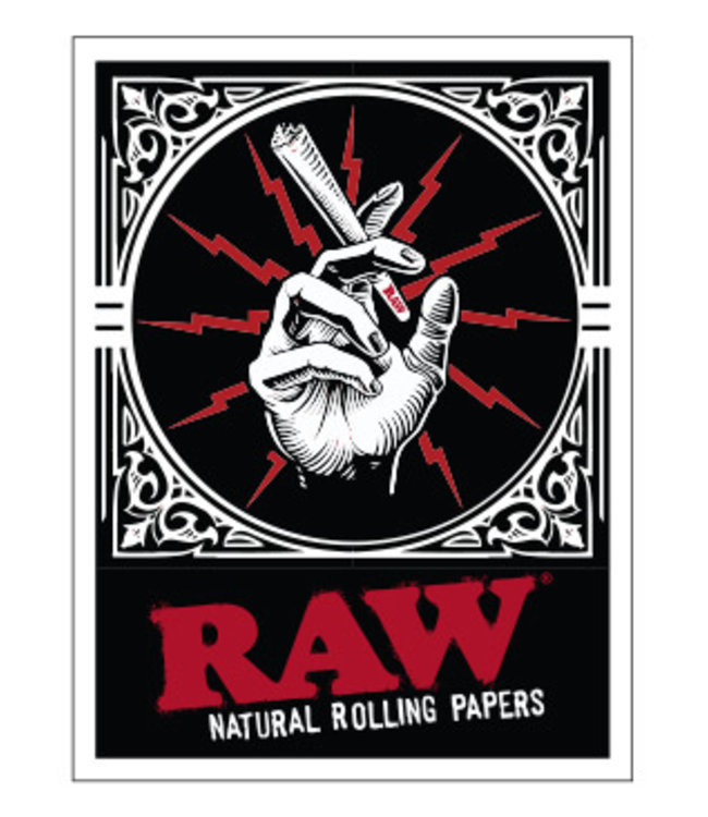 RAW RAW Sticker Hand  w/ Cone