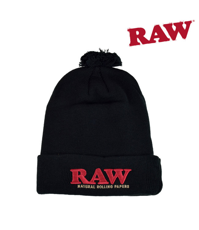 RAW RAW Pompom Hat Black
