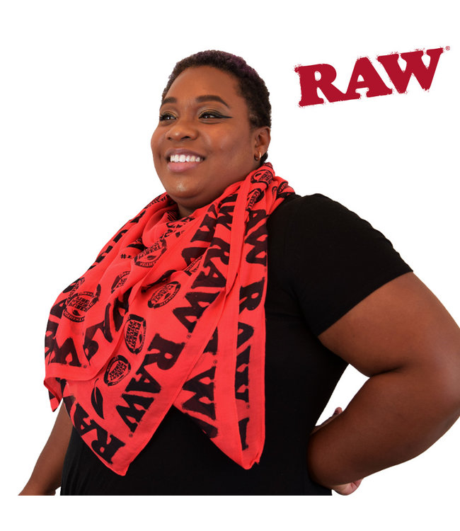 RAW RAW Vegan Soft Combed Cotton Scarf Red