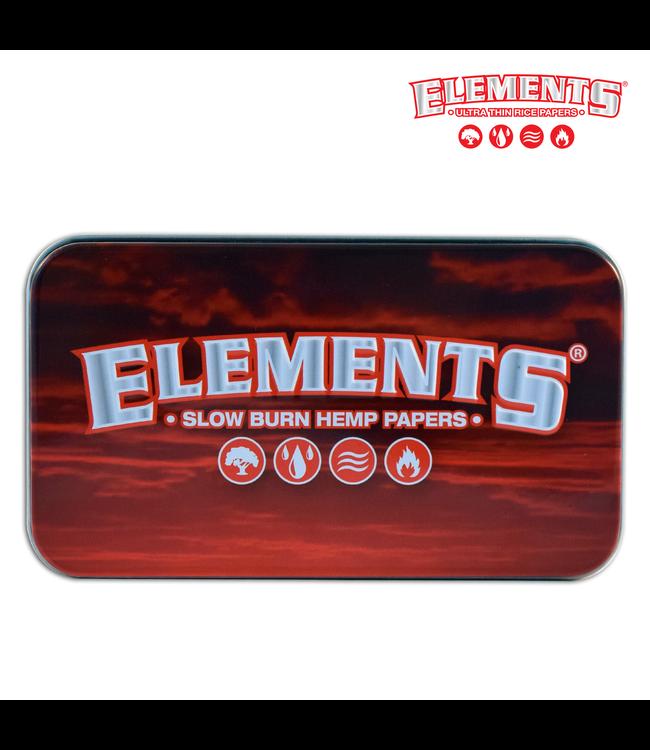 "Elements Elements Red 4.5"" x 2.5"" Tin Case"