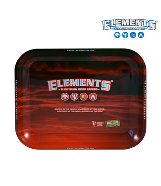 Elements Elements Red Metal Rolling Tray Large