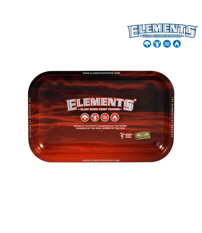 Elements Elements Red Metal Rolling Tray Small