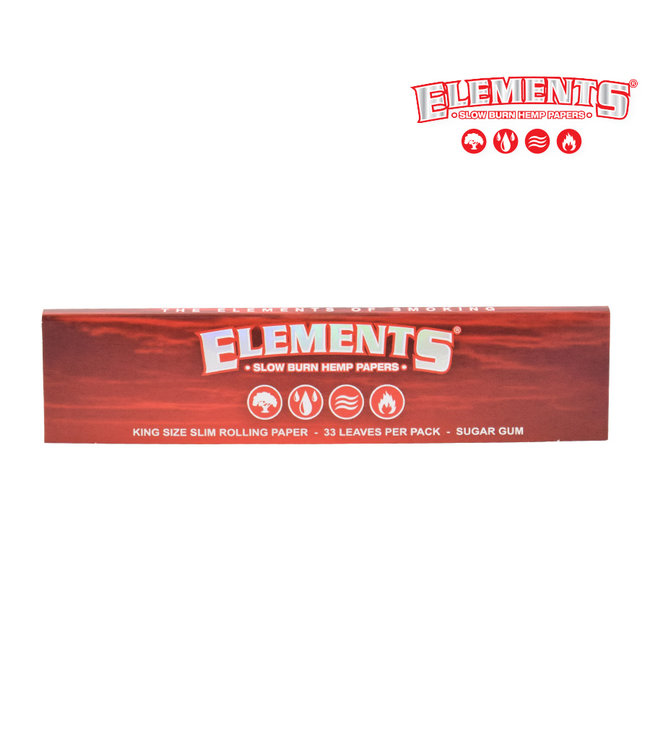 Elements Elements Red Hemp Papers King Size Slim