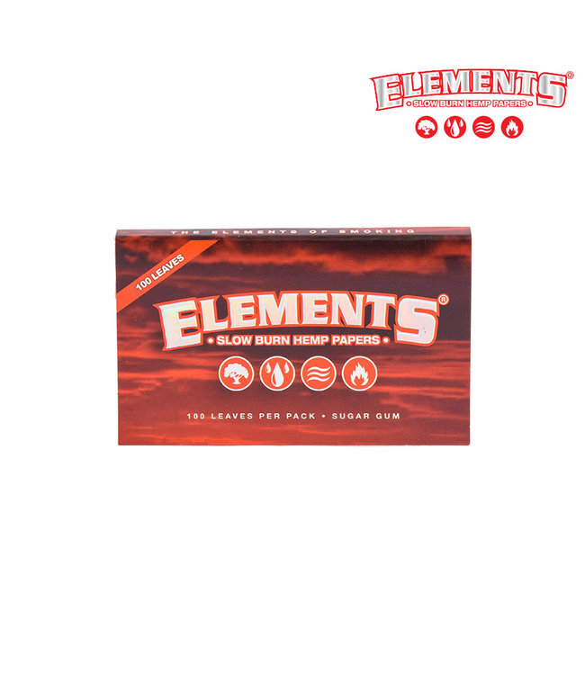 Elements Elements Red Slow Burn Hemp Papers Single Wide