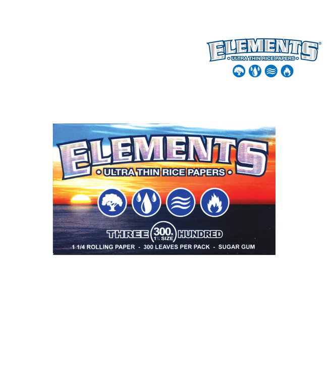 Elements Elements Blue Ultra Thin Rice Papers 1 1/4 Size 300-Pack