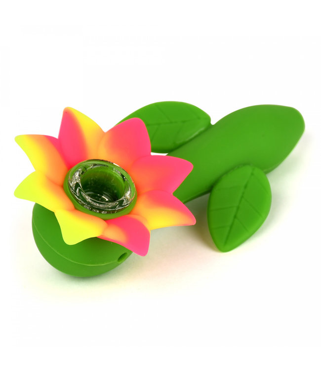 "LIT Silicone LIT Silicone 4.5"" Flower Power Hand Pipe"