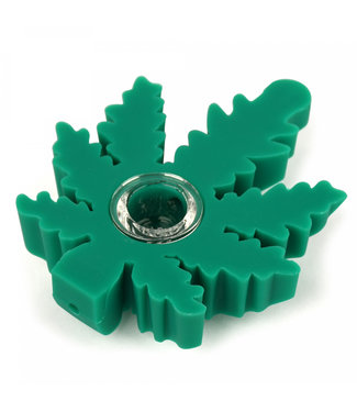"""LIT Silicone LIT Silicone 4"""" Leaf Hand Pipe"""