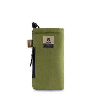 "Vatra Vatra 7"" Padded Pouch w/ Zipper and Drawstring - Green Hemp"