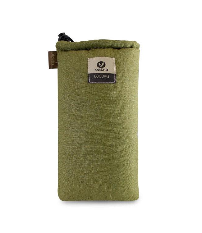 """Vatra Vatra 8"""" Padded Tube String Bag - Green Hemp"""