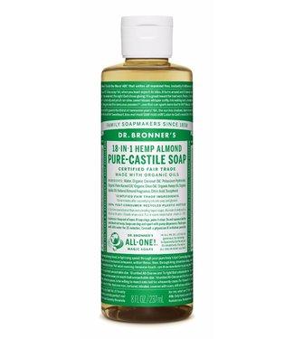 Dr. Bronner's Hemp Almond Liquid Castile Soap, 237ml