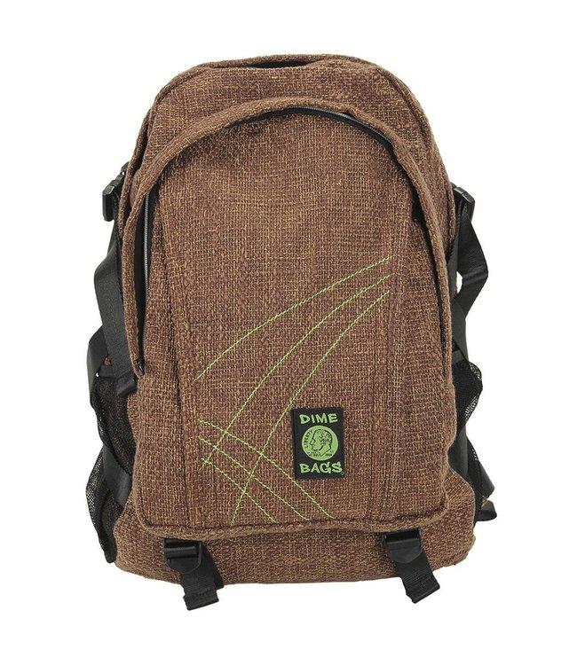"""Dime Bags 18"""" Hemp Backpack - Brown"""