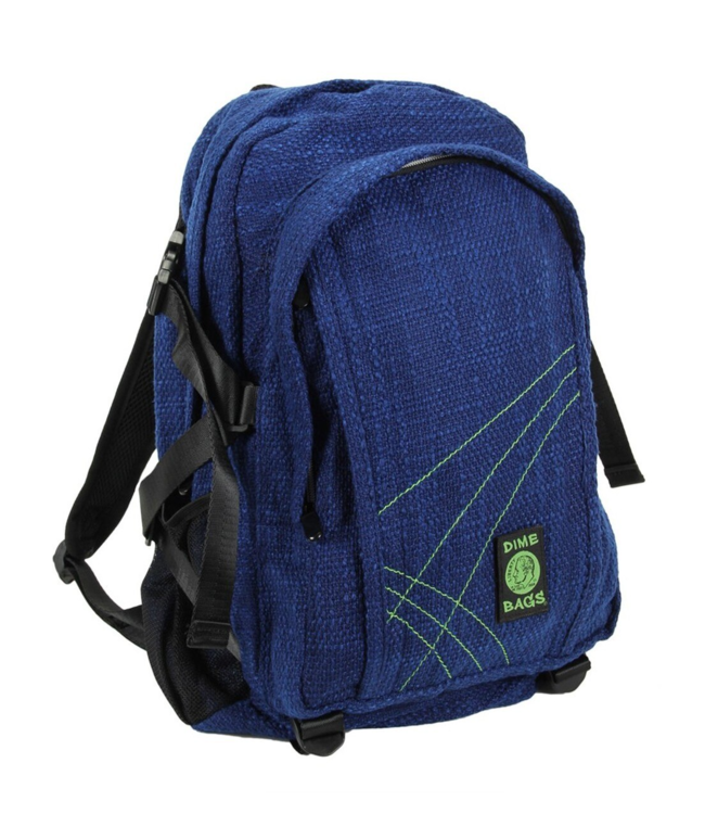 "Dime Bags 18"" Hemp Backpack - Midnight Blue"