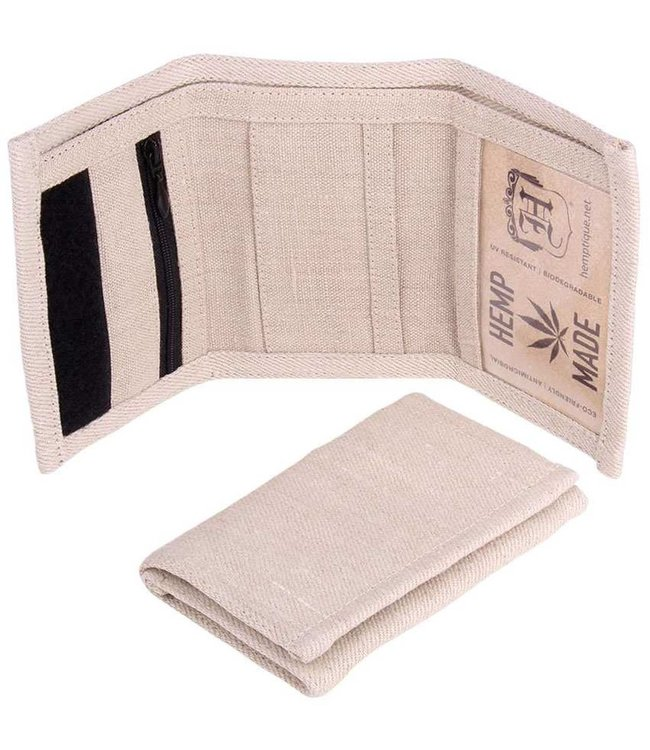 Hemptique Hemptique 100% Tri-Fold Hemp Wallet - Natural