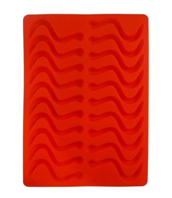 Dope Molds Dope Molds Silicone Gummy Mold Classic Gummy Worm - Red