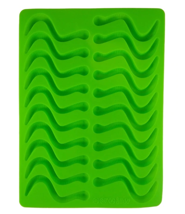 Dope Molds Dope Molds Silicone Gummy Mold - Classic Gummy Worm - Green