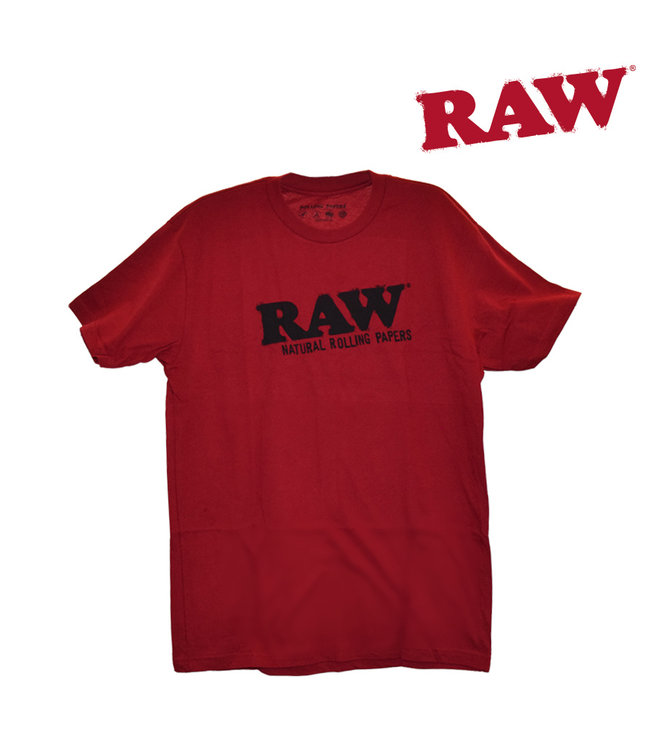 RAW RAW Red T-Shirt w/ Black Logo