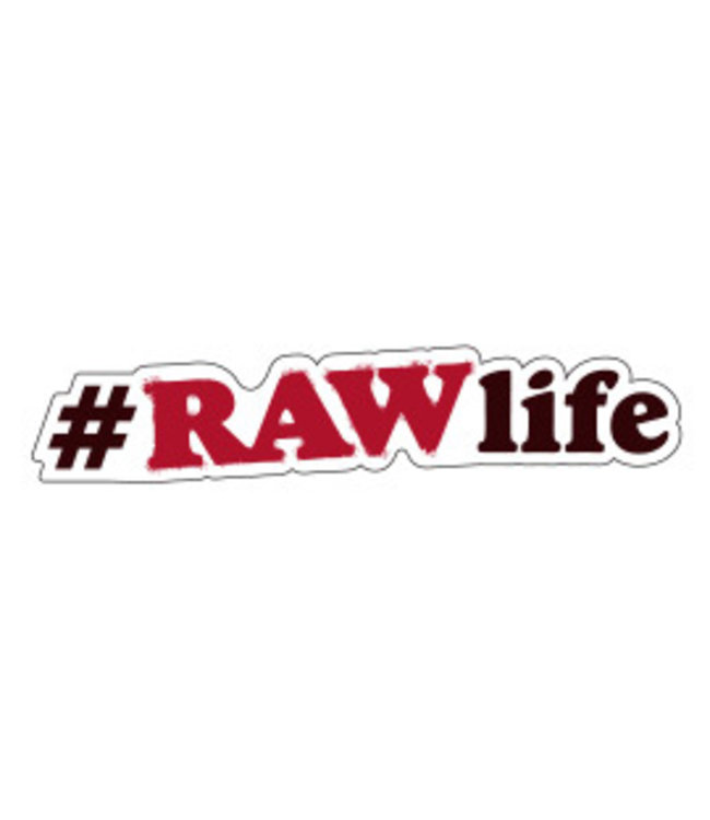RAW RAW Sticker #RAWLife Hashtag