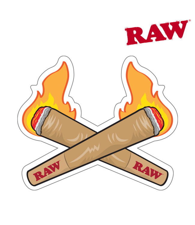 RAW RAW Sticker Fire Cones
