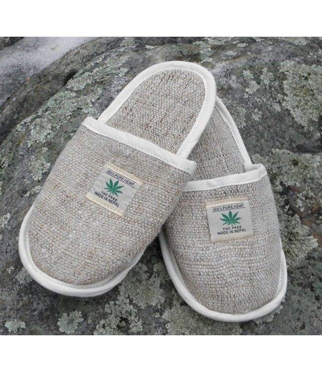Hemp Slippers, Fair Trade Nepal - S