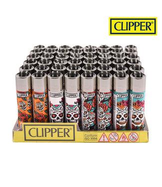Clipper Clipper Refillable Lighter Mexican Skull