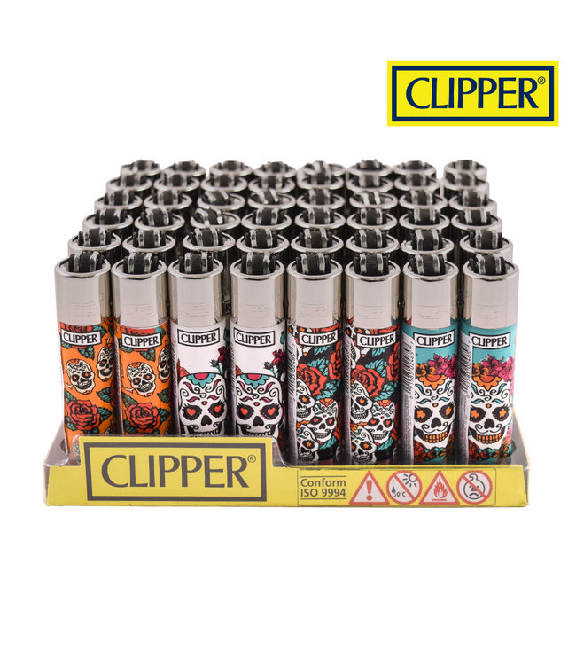 Clipper Clipper Refillable Lighter Mexican Skull