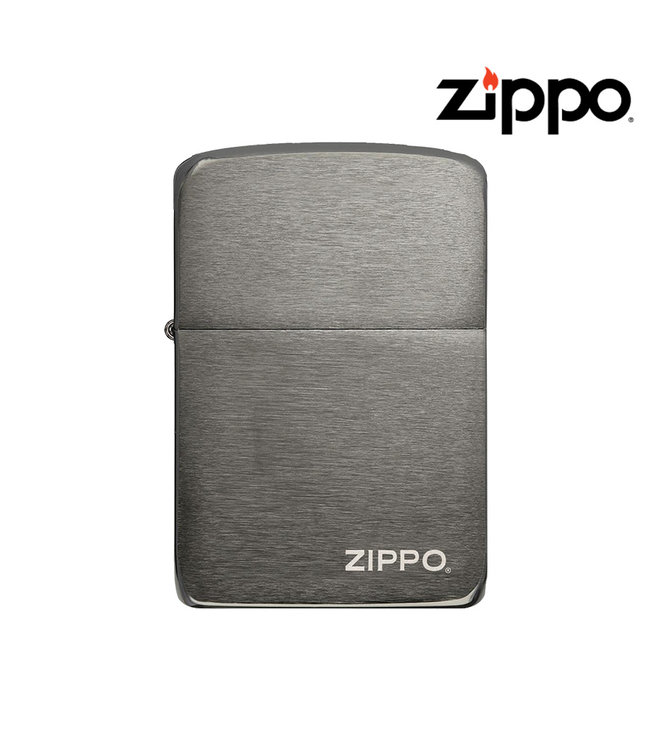 Zippo Zippo Lighter 1941 Replica w/ Logo Black Ice