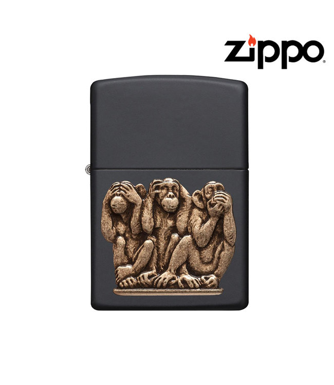 Zippo Zippo Lighter Three Monkeys