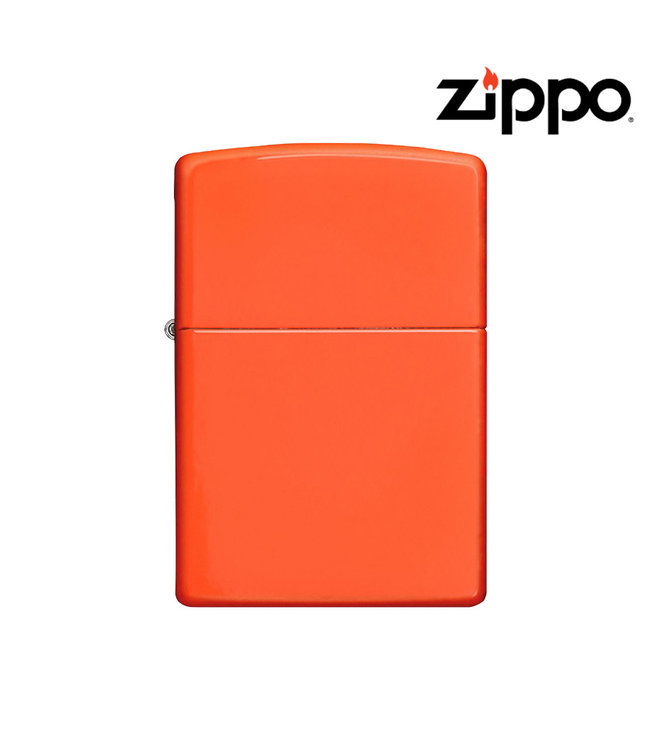 Zippo Lighter Neon Orange
