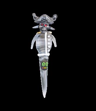 Cheech Glass Cheech Glass Pirate Skull w/ Hat Dabber