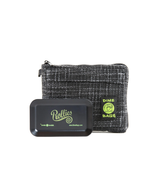 """Dime Bags 8"""" Rollies Pouch w/ Tray"""