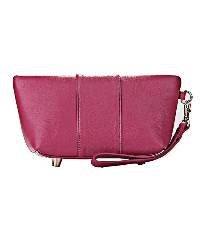 Erbanna Erbanna Smell Proof Carry Bag w/ Clutch & Wristlet Strap - Kimberly - Pink Leather