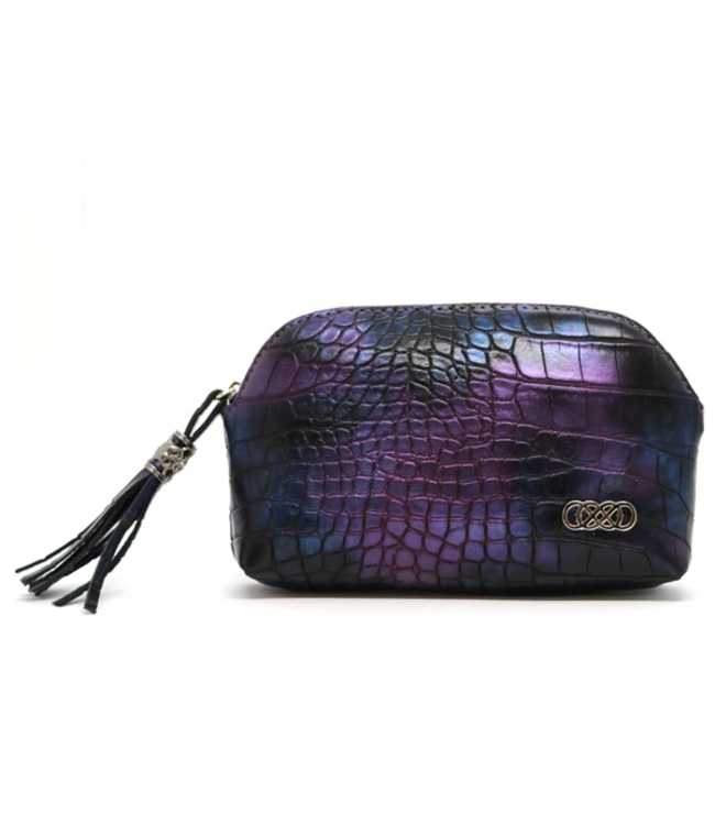 Erbanna Smell Proof Carry Bag - River - Purple Croc