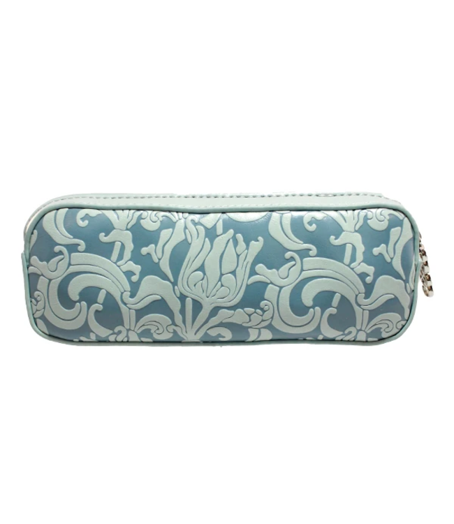 "Erbanna 7.5"" x 2.8"" x 2"" Smell Proof Small Carry Case - Rae - Silver Flower"