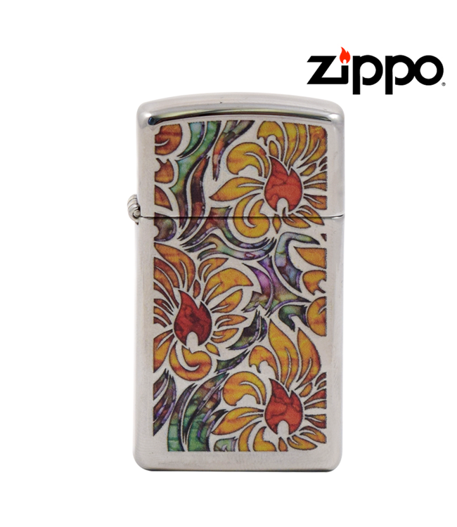 Zippo Lighter Slim Fusion Floral
