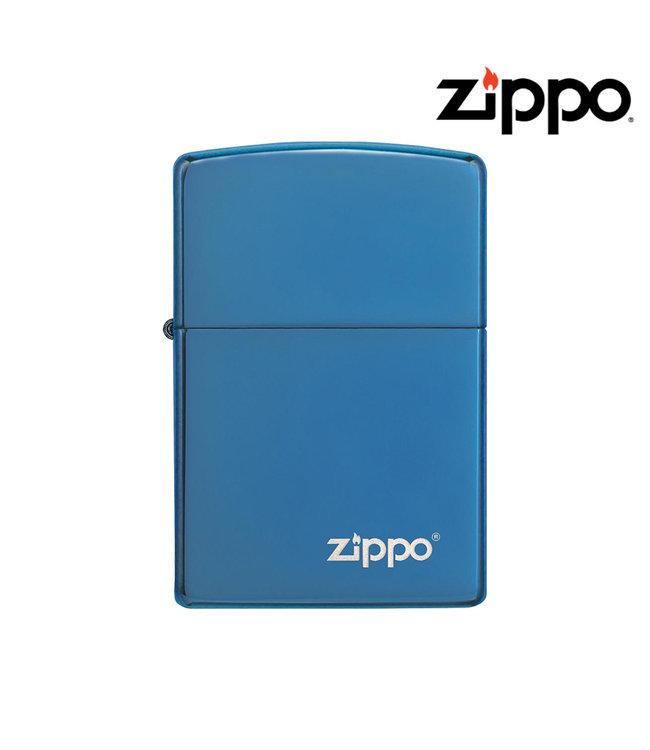 Zippo Lighter Sapphire w/ Logo