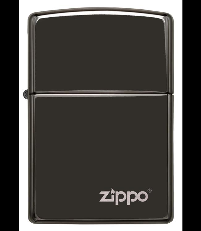 Zippo Zippo Lighter Ebony w/ Mirror-Like Finish & Logo