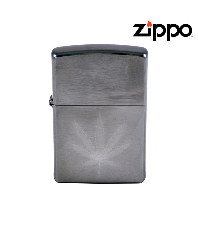 Zippo Lighter Brushed Chrome w/ Leaf