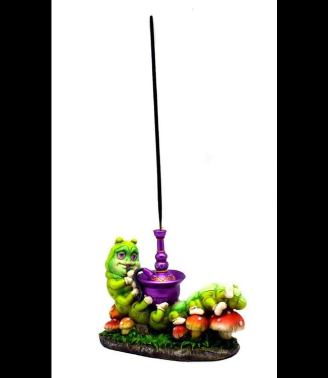 """Fantasy Gifts Incense Burner Caterpillar Smoking Hookah 4"""" x 5"""""""