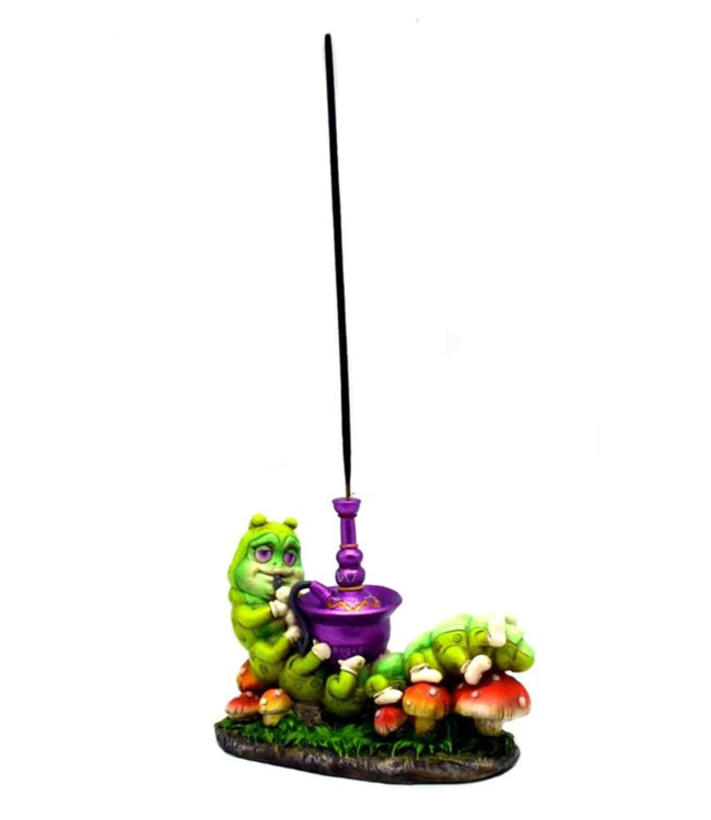 "Incense Burner Caterpillar Smoking Hookah 4"" x 5"""