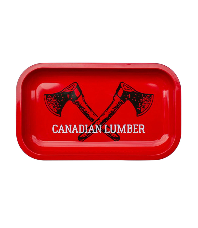 "Canadian Lumber Canadian Lumber Big Red Metal Rolling Tray 10.5"" x 6.25"""