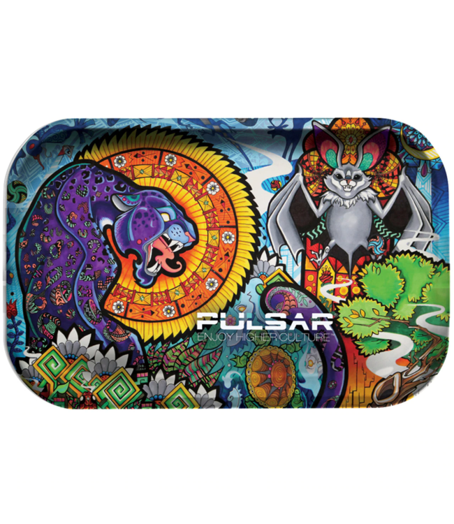 "Pulsar Pulsar 11"" x 7"" Metal Rolling Tray - Medium - Psychedelic Jungle"