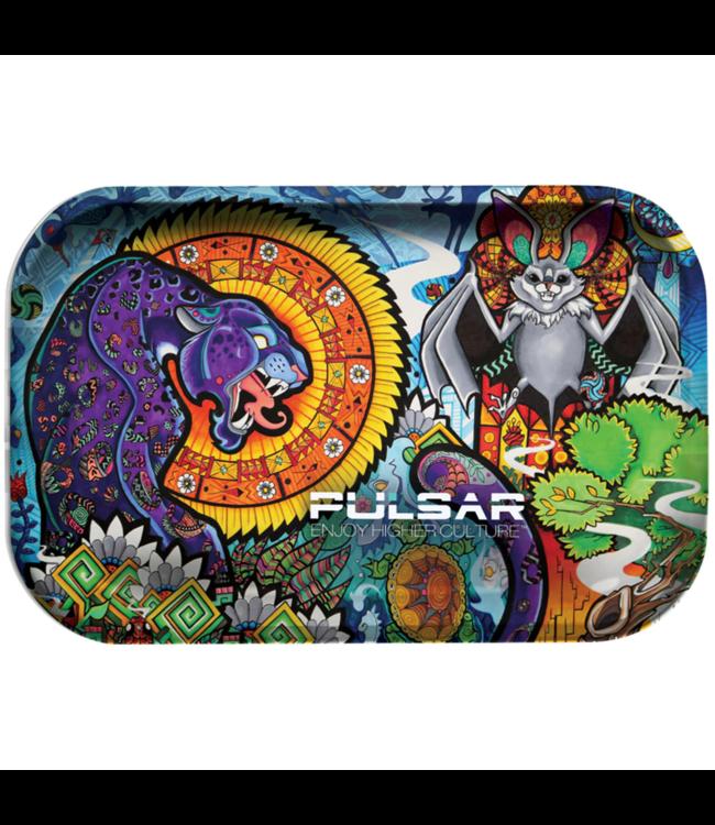 "Pulsar Pulsar 11"" x 7"" Metal Rolling Tray - Medium - Psychedelic Jungle"