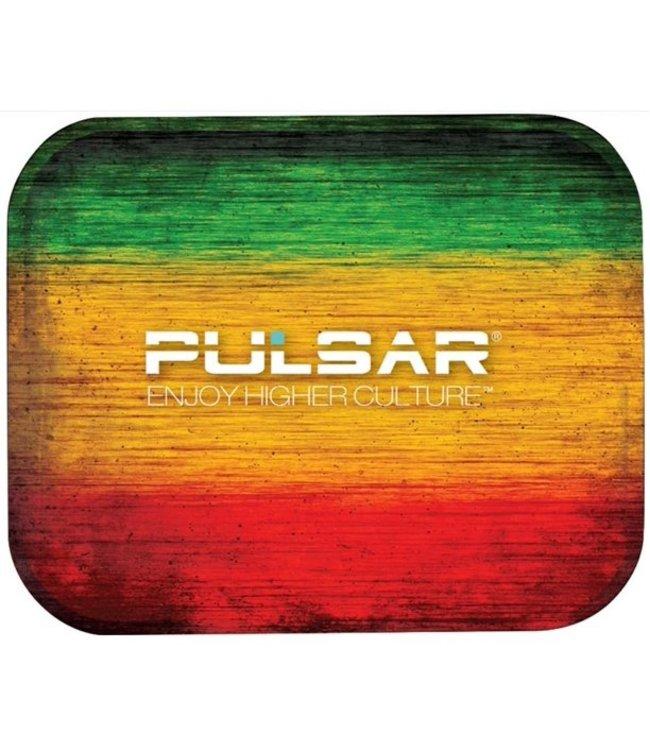"Pulsar Pulsar 13.25"" x 10.75"" Metal Rolling Tray - Large - Rasta"