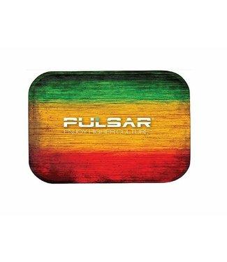 "Pulsar Pulsar 10.5"" x 6.25"" Metal Rolling Tray - Medium - Rasta"